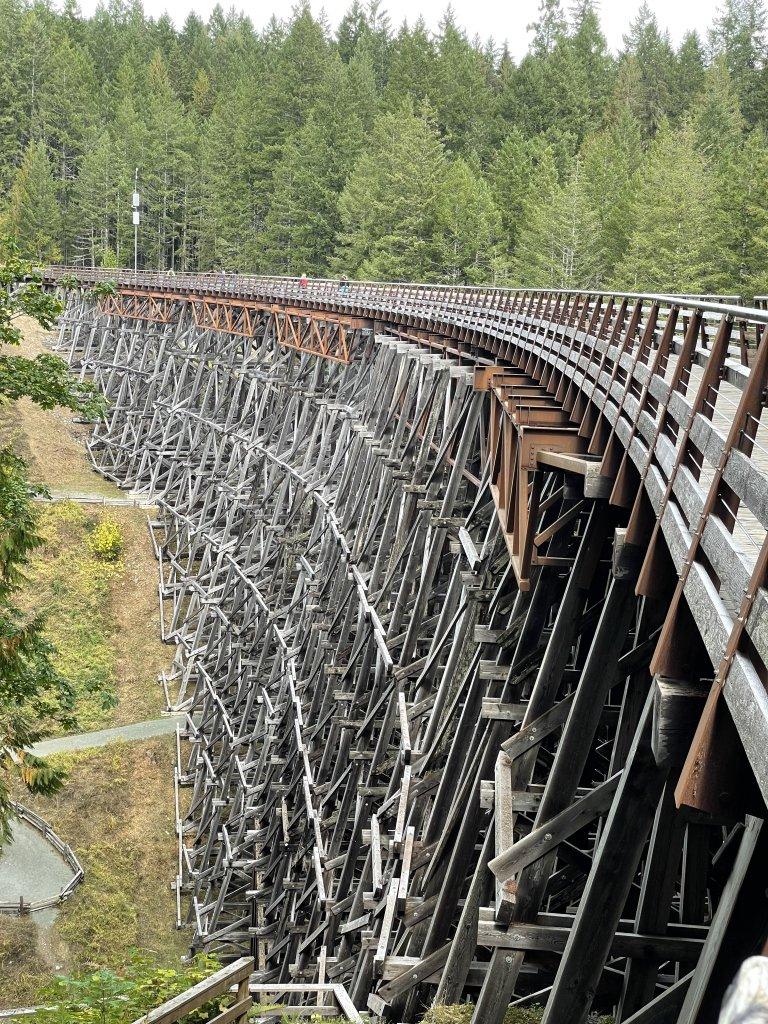 Photo of the Kinsol Trestle; as old railway bridge over the Koksilah river.